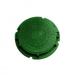 Люк полимерн. тип Л 620х670мм нагрузка 3т-5т зел., S2001074, 830 руб., S2001074, , Люка, решетки ливневые.