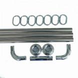 .САНАКС-10009 Карниз хромирован 0,9*0,9*0,9 углов., S2093014, 700 руб., S2093014, , Ванны, поддоны, кабины